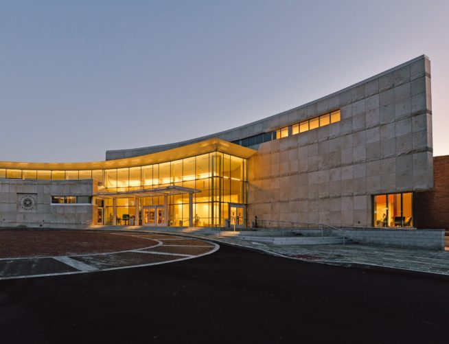 Atlanta History Center, exterior, night view