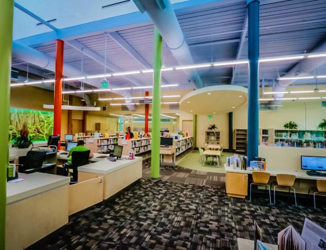 Southeast Atlanta Library, interior
