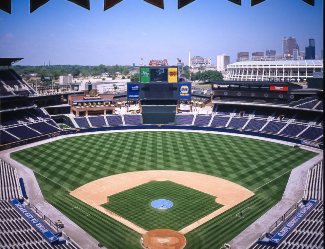 Turner Field, Braves stadium, aerial view