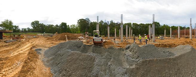 Pre-construction, bull dozing