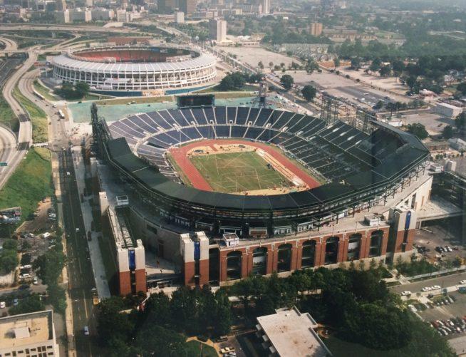 Aerial view of Turner Field