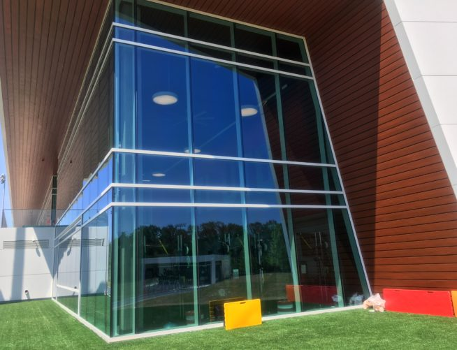 Atlanta United Exterior Training Facility Glass Wall