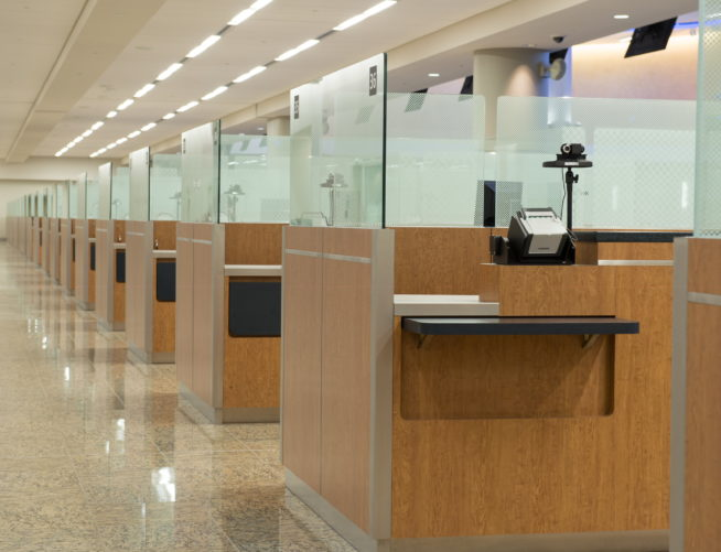 Maynard Jackson International Terminal, Security Guard Checkpoint Desk