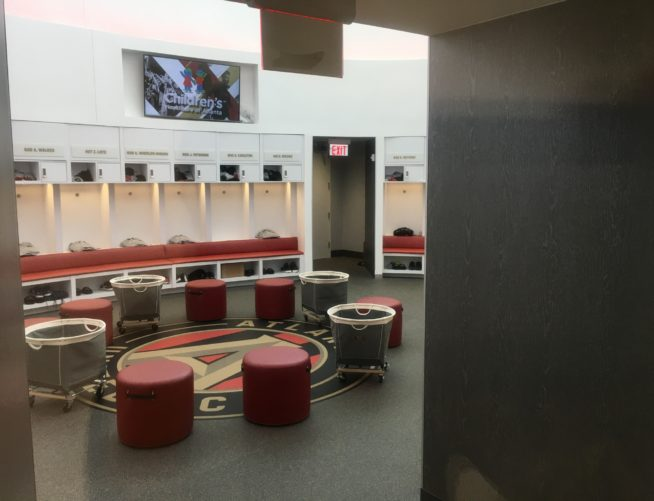 Atlanta United interior Training Lockers