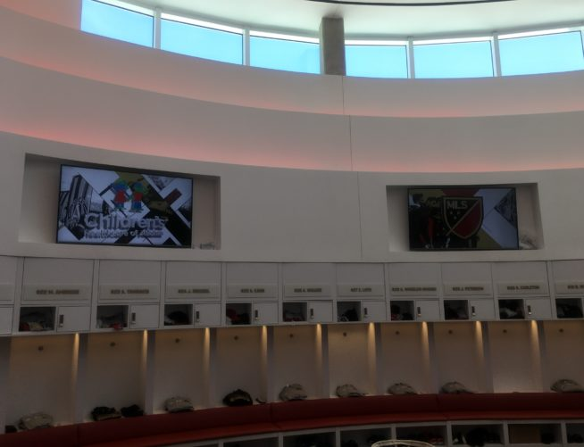 Atlanta United interior Training Lockers
