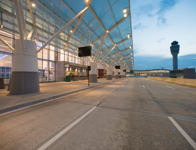 Exterior view of Maynard Jackson International Terminal